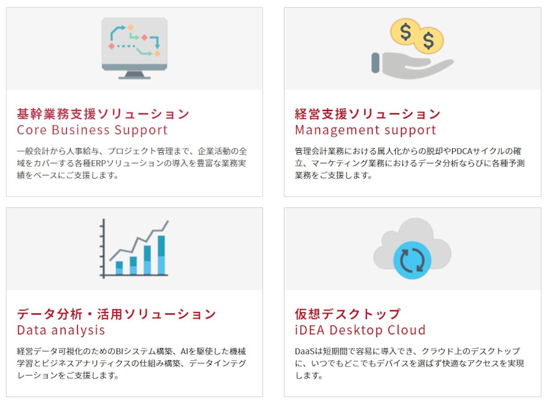 クラウド×ERPの分野でお客様の課題を解決するためのシステム導入から、運用支援まで提供