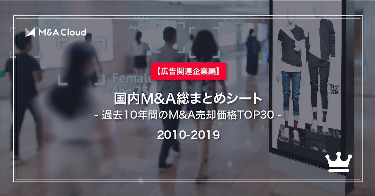 【広告関連企業編】国内M&A総まとめシート【2010-2019】