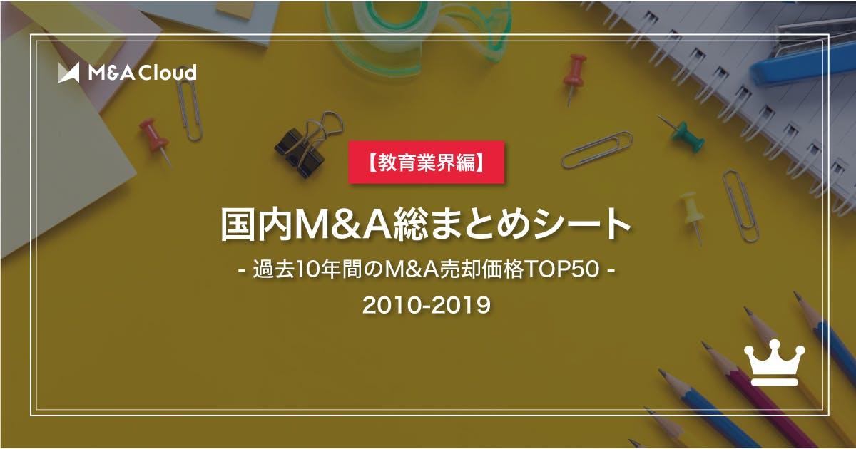 【教育業界編】国内M&A総まとめシート【2010-2019】
